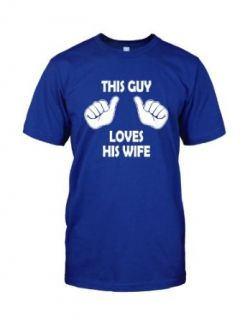 This Guy Loves His Wife T Shirt funny wedding husband tee