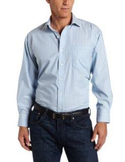 Nautica Mens Stripe Non Iron Dress Shirt, Green, 15 32/33 Clothing