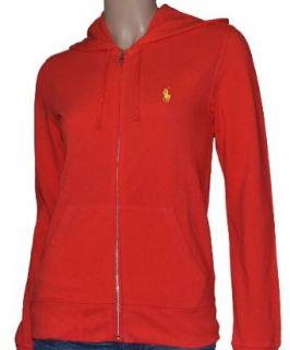 Polo Ralph Lauren Womens Hoodie Sweatshirt Red XL