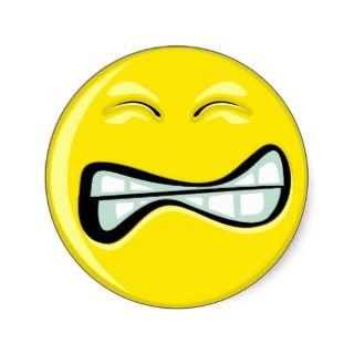 Happy Smiley Face Frusraed Sickers