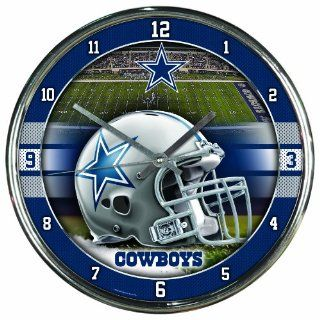 NFL Dallas Cowboys Chrome Clock
