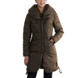 Jessie G. Womens Hooded Shawl Collar Down Coat in Black