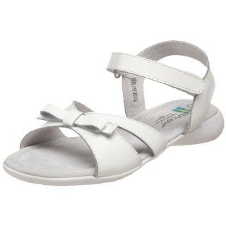 Kid Cindy Open Toe Sandal,White,35 EU (3.5 M US Little Kid): Shoes