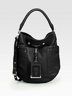 Marc by Marc Jacobs Preppy Leather Hobo Bag   Black