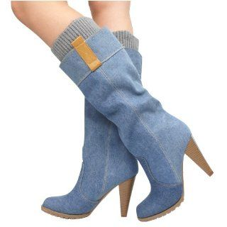 Jojo38L Denim Knee High Boot LIGHT BLUE Shoes