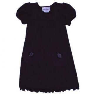 Rare Editions Girls 4 6X Brown Sweater Knit Cargo Dress