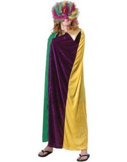 Adult Mardi Gras King Queen Mens Womens Costume Cloak