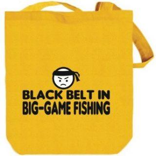 BLACK BELT IN Big Game Fishing Yellow Canvas Tote Bag