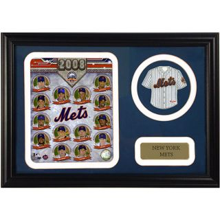 New York Mets 2008 Framed Print with Mini Jersey