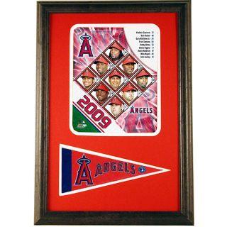2009 LA Angels 12x18 Framed Print with Mini Pennant