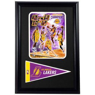LA Lakers 2009 Custom Framed Print with Mini Pennant
