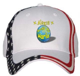 Alexis Rocks My World USA Flag Hat / Baseball Cap