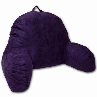 Respaldo para cama, microgamuza, púrpura