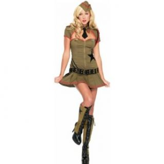 Private Pin Up Sexy Army Girl Costume 83696: Clothing