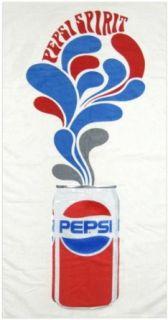 Pepsi Cola 1970s Vintage Beach Towel, White Clothing