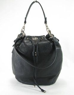 Coach Madison Leather Drawstring Bag Purse Tote 17016 Black Shoes
