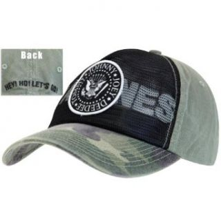 Ramones   Seal Logo Camo Adjustable Cap: Clothing