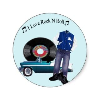 50s Rock N Roll Stickers