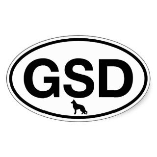 GSD German Shepherd Dog Sticker