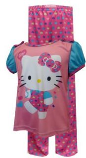 Hello Kitty Rainbow Hearts Toddler Pajamas for girls