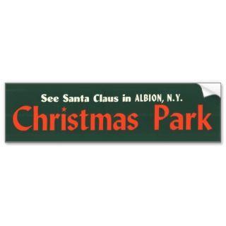bumper sticker   christmas park bumper stickers