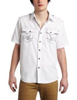 Southpole Mens Short Sleeve Button Down Dress Shirt