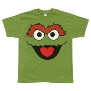 Sesame Street Oscar The Grouch Big Face Mens Tee Clothing