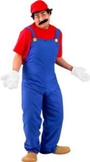 Adults Super Mario Costume (Large 42 44) Clothing