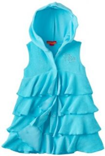 Kate Mack Girls 2 6X Sleeveless Hooded Terry Cover Up