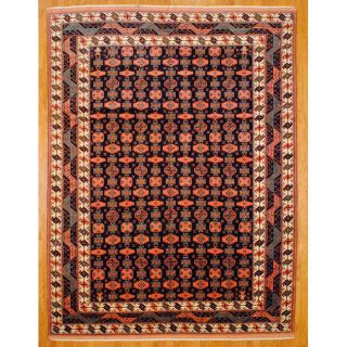 Persian Hand knotted Tabriz Red Wool Rug (94 x 13)