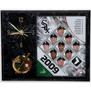 Chicago White Sox Team Picture Plaque Clock