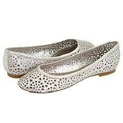 Steve Madden Dolle Silver Leather Flats