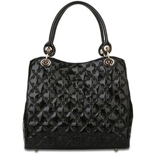 Rioni Tessere The Lady Black Patent Leather Signature Embossed