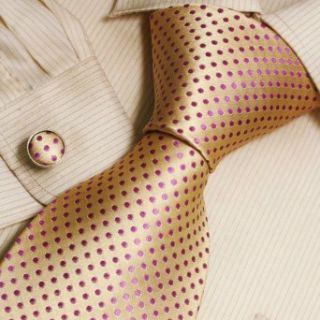 Gold Dots Designer Mens Ties Orange Wedding Gifts Mens