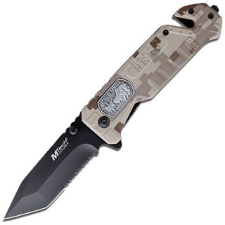 MTech USA Special Forces Tactical Folding Knife with Glass Breaker