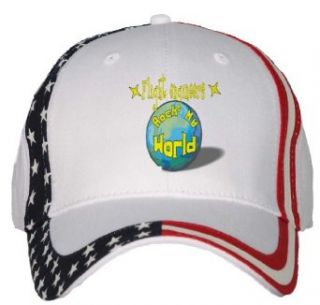 Flight engineers Rock My World USA Flag Hat / Baseball Cap