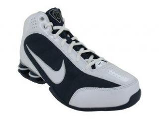WOMENS BASKETBALL SHOES 9 (WHITE/MIDNIGHT NAVY/MET SILVER) Shoes