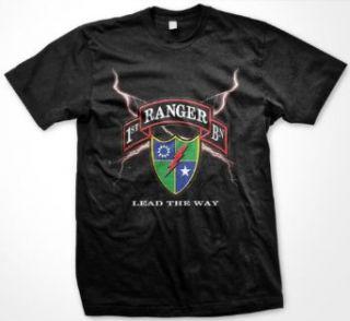 Army, 1st Ranger Battalion Mens T shirt, ARMY Rangers Lead