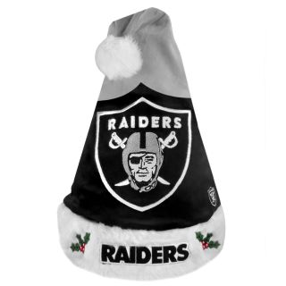 Oakland Raiders 2011 Colorblock Runoff Logo Santa Hat