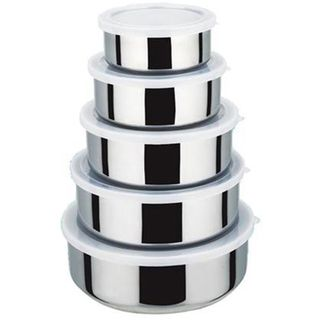 KitchenWorthy Stainless Steel 10 piece Serving Bowls Set