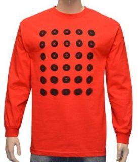 DC SHOES Mens Blur Skateboard long Sleeve Shirt   Red