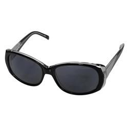 Guess Womens GU6433 Black Over Crystal Sunglasses