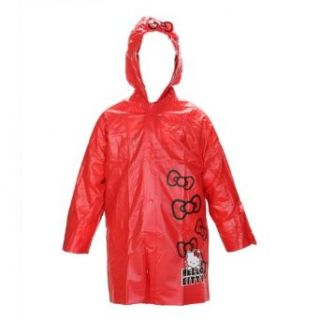 Sanrio Hello Kitty Girls Red Rain Slicker   Large 6/7