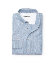 H.E. By Mango Mens Slim Fit Striped Cotton Oxford Shirt