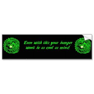 Neon Dragon Coolness Bumper Sticker