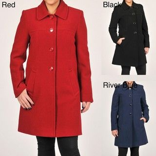 Larry Levine Womens Wool Coat