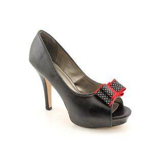 Girl Luckkie Open Toe Platforms Heels Shoes Black Womens New/Display