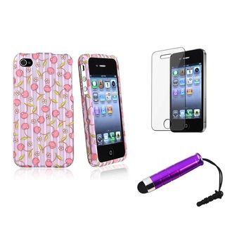 BasAcc Pink Case/ Screen Protector/ Stylus for Apple® iPhone 4/ 4S