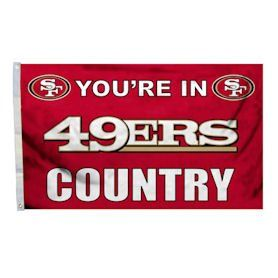 San Francisco 49ers Flag   Youre in 49er Country Sports