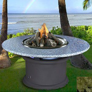 Del Mar   Black   Fire Pit   Bronze Glass   Sea Green